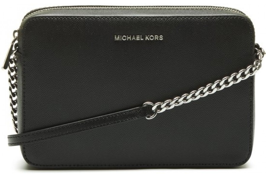 fe26bc7aca1c MICHAEL KORS Jet Set Large Saffiano Leather Crossbody Bag